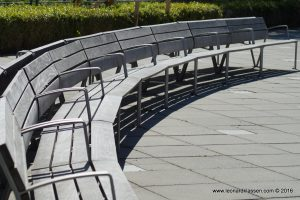 UBC, bench, curved