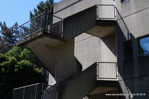 UBC, building, outside stairs, angles, architecture