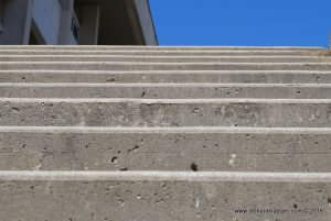 Concrete stairs, up, climb, perspective
