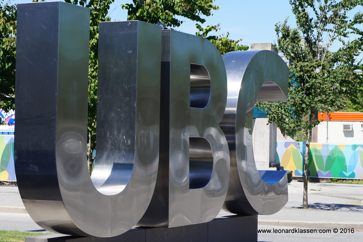 UBC, sculpture, sign, entrance, university boulevard